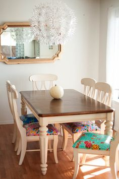 chair covers, diy kitchen table and chairs, refinish a kitchen table, apartment diy kitchen, kitchen tables, chair fabric, kitchen table refinish, chair cushions, kitchen chairs