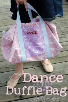 Dance Duffle Ruffle Bag + Tutorial