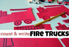 Fun math activity for fire prevention week from No Time for Flashcards