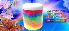 Rainbow bath salts r