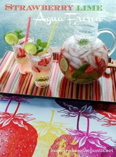Strawberry Lime Aqua Fresca