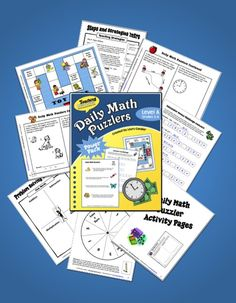 Daily Math Puzzlers Level A - Complete daily program for teaching students how to solve word problems - includes all the printables you need to make the system work - preview online before purchasing $