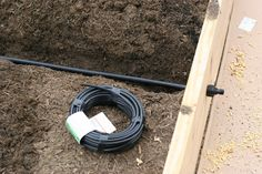 Irrigation system for raised beds