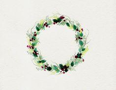 plum wreath