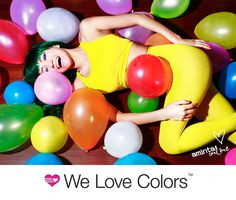 #fun #happy #party #welovecolors #balloons #yellow #tights #leggings #fashion #model #hair #photography