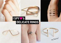 I Spy DIY: I SPY FINDS | Delicate Rings