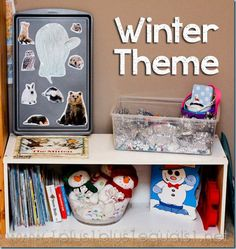 Winter Theme Home #Preschool Fun from @{1plus1plus1} Carisa
