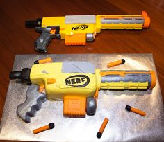 Pin Tags Nerf Gun Cake On Pinterest