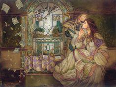 modern art, fantasi artist, window, thoma canti, calendar art