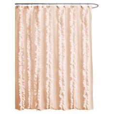 Belle Shower Curtain in Peach