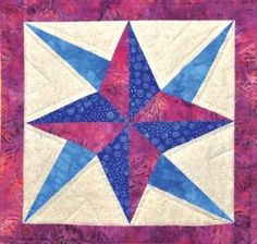 Block of the Month is the Fairfield Star. If it looks familiar, it should—because 'tis the star of our logo! Learn how to make it here: http://www.fairfieldworld.com/pattern/178-fairfield-star