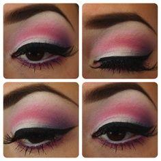 Pink make up for brown eyes