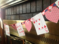 Purposeful Play Time: DIY Playing Card Valentine's Day Banner