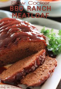 This Slow Cooker BBQ Ranch Meatloaf is a simple slow cooker meatloaf recipe packed with tasty ingredients!