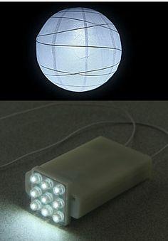 Paper Lantern Light - 9 Bright White LED's