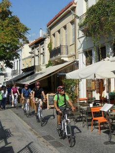 bike sightseeing in Monastiraki