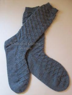 Guitar Man Socks pattern, 2.5mm