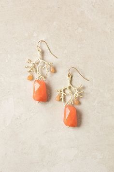 Branch Coral Drops - Anthropologie.com