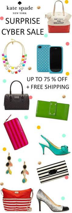 Kate Spade just kicked off their Surprise CYBER SALE! Enjoy up to 75% OFF all the best styles! This is too good to miss! I just LOVE Kate Spade! Ends 11/26. Click through for more details.