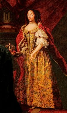 Francoise Madeleine dOrleans, Mademoiselle de Valois, (1648-1664) Duchess of Savoy, in ducal regalia. French school.c. 1664. Born a Princess of France and was the Duchess of Savoy as the first wife of Charles Emmanuel II. She was a first cousin of Louis XIV as well of her husband. She was the Savoyard consort of shortest duration, dying at the age of fifteen, childless.