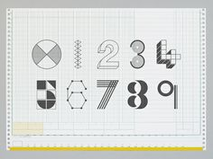 Present&Correct - Number Stamps