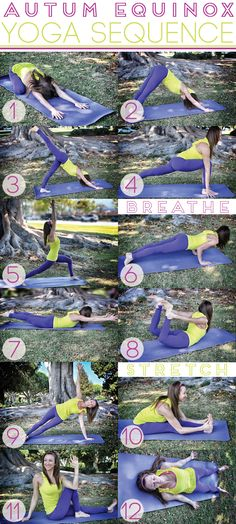 beautiful yoga, Fall Yoga Sequence WELL in L.A. #yoga #yogaposes #fitness