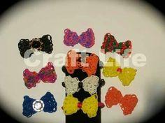 Rainbow loom hair bows rainbow loom charms bow, rainbowloom, bow