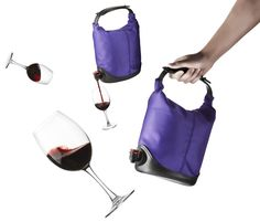 Perfect if you like to take some wine with you when you travel! Whaaaat?!