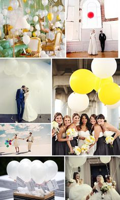 See how something as simple as balloons can make a wedding?!