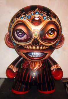"""Malevolent Mastermind   Custom Munny   Artist: Cardboard Spaceship"