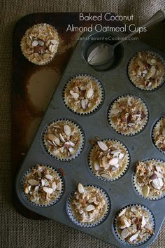 Baked coconut almond oatmeal cups