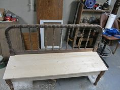 Great DIY tutorial on how to make a bench from a headboard