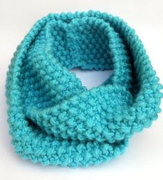 Light Blue Knitted Cowl Infinity Scarf for Spring by stinkR, $25.00