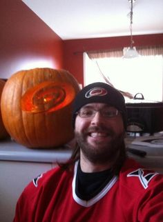 @fauchonmathieu tweeted this picture at the @Carolina Krupinska Hurricanes twitter for #HockeyHalloween from Montreal!