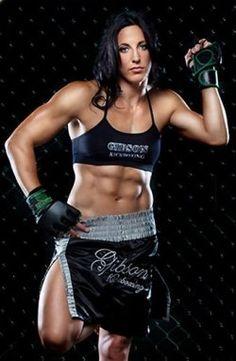"Female MMA fighter Julia ""The Jewel"" Budd"