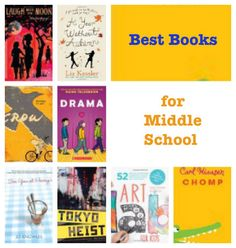 Best Books for Middle School :: PragmaticMom book lists, 7th grade book list, middle school books, 7th grade books, books for middle school, 6th grade books, 6th grade book list, 8th grade books, middle school book list