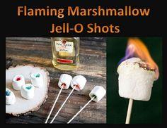Flaming Marshmallow Jello Shots