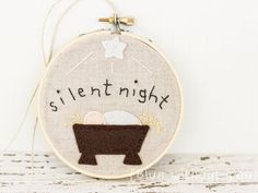 Baby's first Christmas gift idea: Beautiful embroidery hoop ornament on Etsy