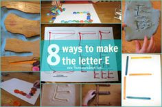 8 Ways to Make the Letter E - from the measured mom