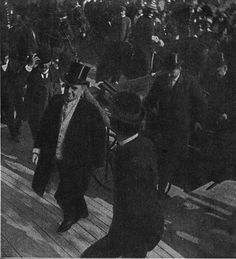 On September 6, 1901, President William B. McKinley is shot and mortally wounded by anarchist Leon Czolgosz at the Pan-American Exposition in Buffalo, N.Y.
