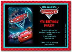 Cars Birthday Invitation | personalized cars invitation | cars birthday party  #disneycarsinvitation #carsinvitation #disneycarsinvitation