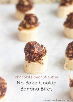 No Bake Cookie Banana Bites
