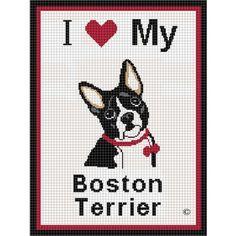 Free Boston Terrier Embroidery Design
