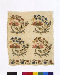 sash cotton with silk Turkish embroidery