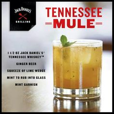 Recipe for a drink named Tennessee Mule