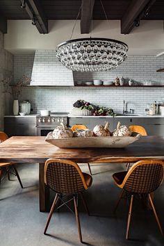 Jessica Helgerson Kitchen Arctic Pear Chandelier/Remodelista