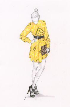sketchi fashion, vintage, fashion illustr, closet, illustr fashion