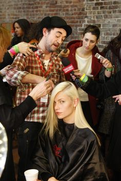 Backstage at DKNY RTW Fall 2012