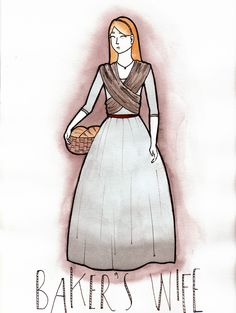 Baker's Wife sketch by Marianne Jetté for the musical Into The Woods