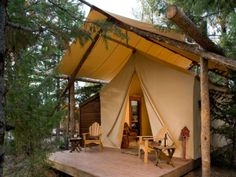 More fancy camping. I like this idea.